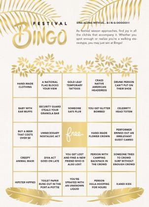 Music Festival Bingo