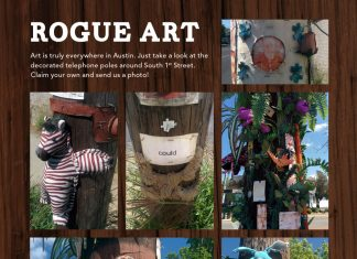 Rogue Art on South 1st Street, Austin, Texas
