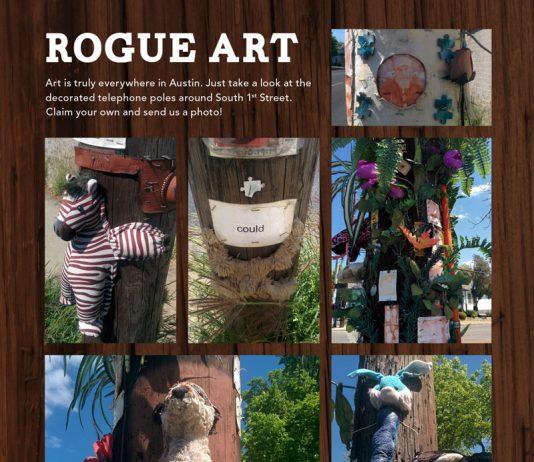 Rogue Art on South 1st Street, Austin, Texas