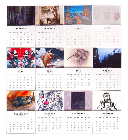Almost Real Things Alumni 2018 Calendar and Art Prints