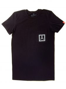 Almost Real Things ART Club Pocket Tee Shirt in Black