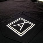 Almost Real Things ART Club Pocket Tee Shirt in Black, Pocket Symbol Detail