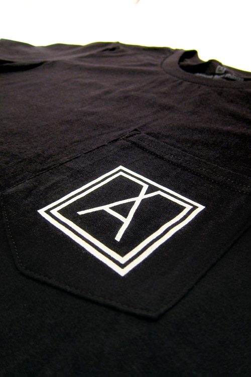Almost Real Things ART Club Pocket Tee Shirt in Black, Pocket Symbol Detail