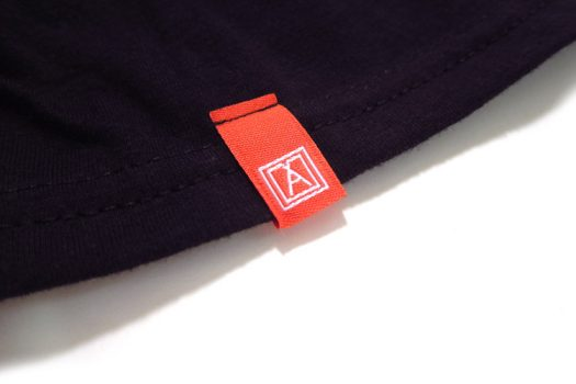 Almost Real Things ART Club Pocket Tee Shirt in Black, Sleeve Tag Detail