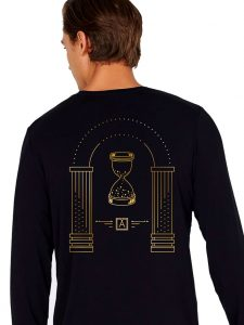 Almost Real Things ART Club Money Makin' Long Sleeve in Black - Back Design