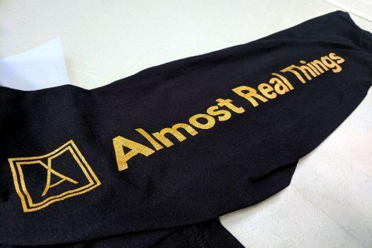 Almost Real Things ART Club Money Makin' Long Sleeve in Black - Sleeve Detail