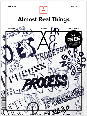 "Almost Real Things Issue 17 ""Process-ing"" Cover"