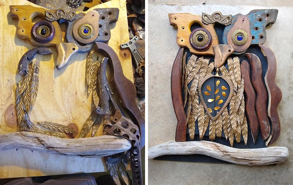 Scott Rolfe - Sawblade Owl Process