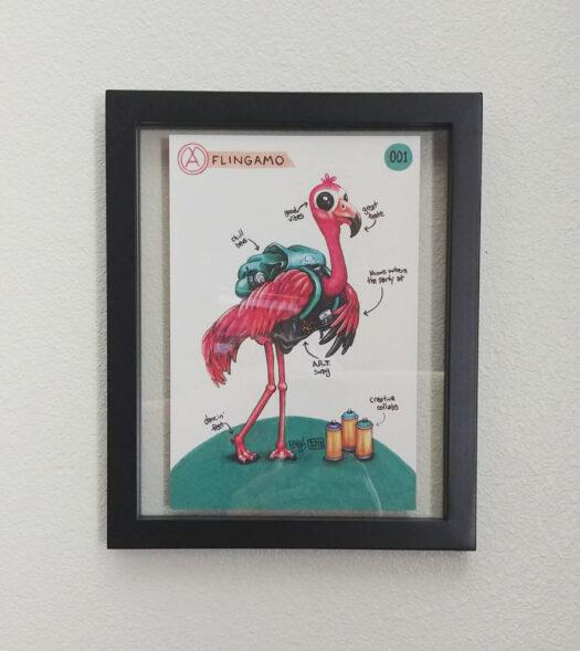 Flingamo-print-framed